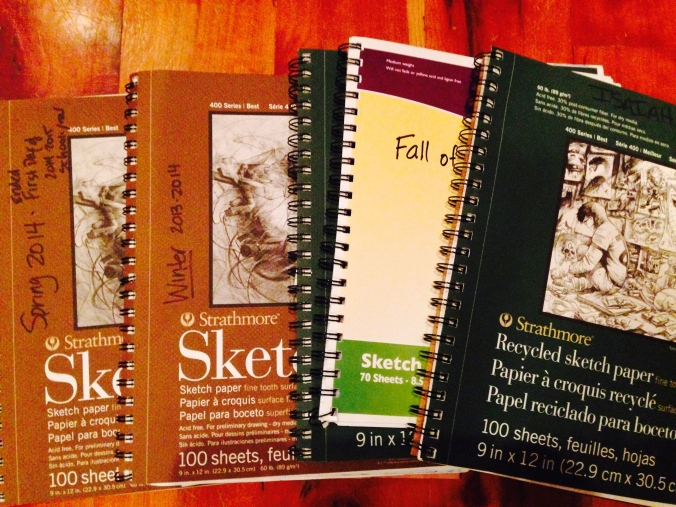 main lesson book or sketch book