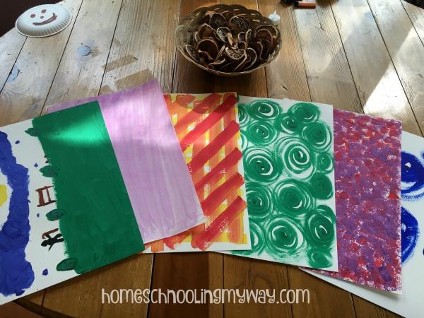 homeschool_textured paper table